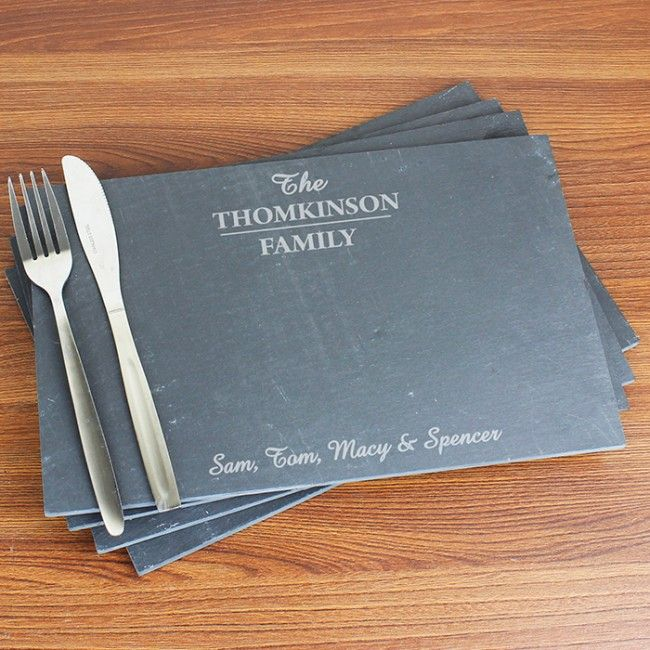 Set of Slate Placemats made from slate