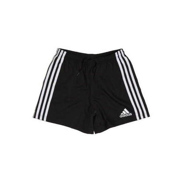 Rugby Team Wear 3 Stripe Shorts Kids Blk/Wht - adidas ($16.00) ❤ liked on Polyvore featuring shorts, bottoms and pants