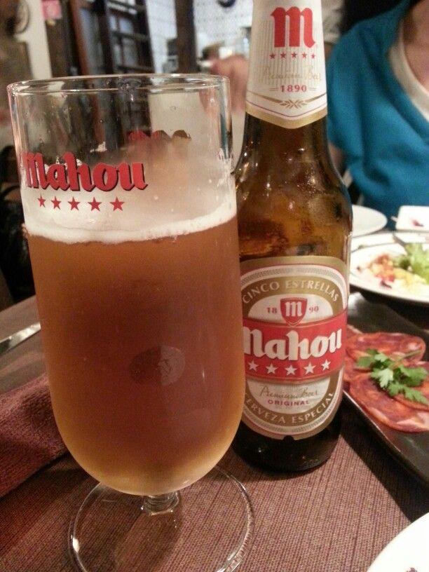 Spanish beer Mahou