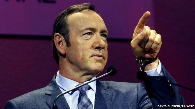 BBC News - Kevin Spacey: TV audiences 'want to binge'