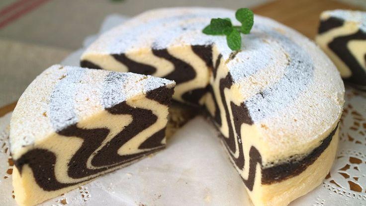 Zebra cake しましまのゼブラケーキ作ってみました! ひひーーーん♪