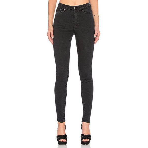 Cheap Monday High Snap Skinny Denim (150 AUD) ❤ liked on Polyvore featuring jeans, cheap monday, super skinny jeans, cut skinny jeans, skinny fit jeans and skinny leg jeans