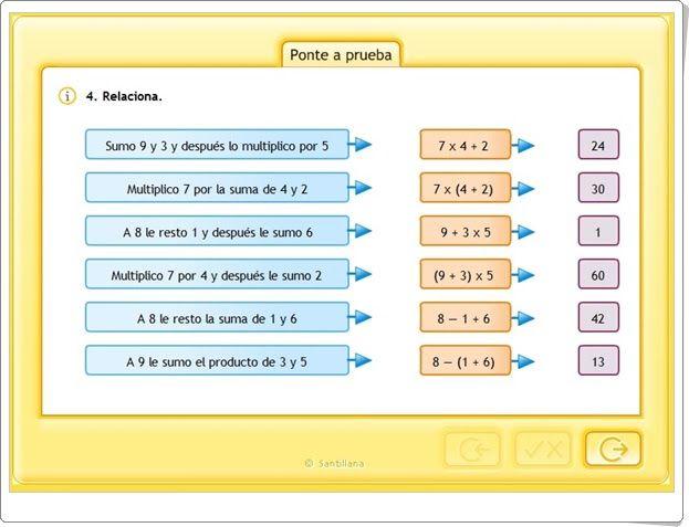 Operaciones Combinadas 1 Actividad Interactiva De Matemáticas De Primaria Actividades Interactivas Operaciones Combinadas Primaria Matematicas