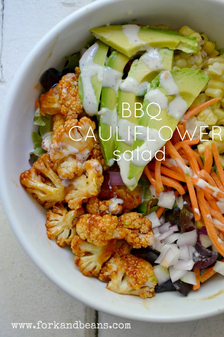 BBQ Cauliflower Salad