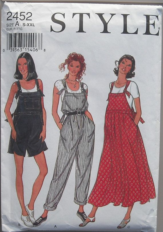 Style 2452 Maternity Jumper Overalls Skirt Misses by omasbricabrac, $10.00