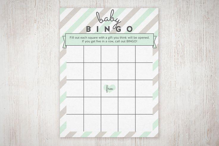 Customizable Baby Shower Bingo Free Printable!