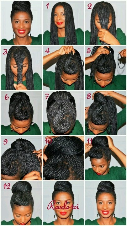 70 best diy loc styles images on pinterest hair cut hairdos and i love her box braids updo cute updo to try find this pin and more on diy loc solutioingenieria Gallery
