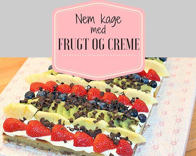 Fantastisk kage, der både er en fryd for øjet såvel som smagsløgene med den fremragende kombination af frisk frugt, vaniljecreme og sød kage.