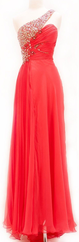 Ed410 Charming Prom Dress,Beading Prom Dress,A-Line Prom Dress,Chiffon Prom Dress,One-shoulder Prom Dress