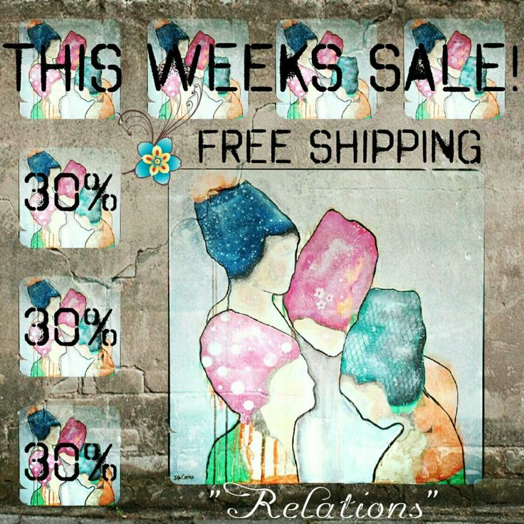 Relations is this weeks sale with 30% off and FREE SHIPPING!
