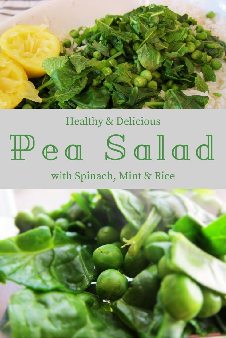 Pea Salad with Spinach, Mint and Rice