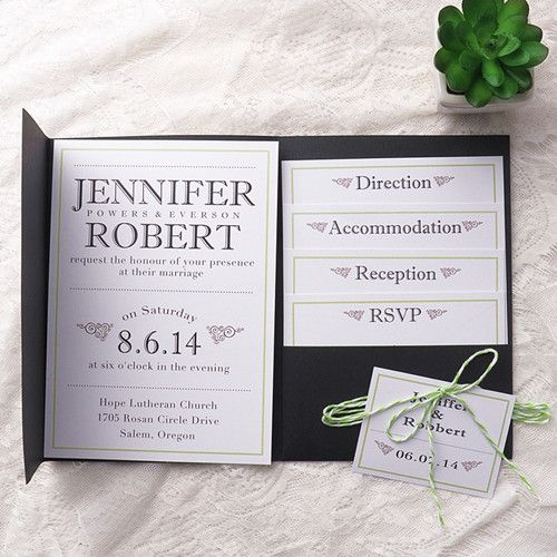 pocket wedding invitations 1000 ideas about green wedding invitations on 6699