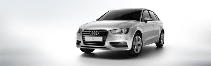 2013 Audi A3 Sportback, grey car, front view, wallpapers
