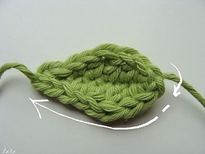 MES FAVORIS TRICOT-CROCHET: Tutos : Feuilles au crochet