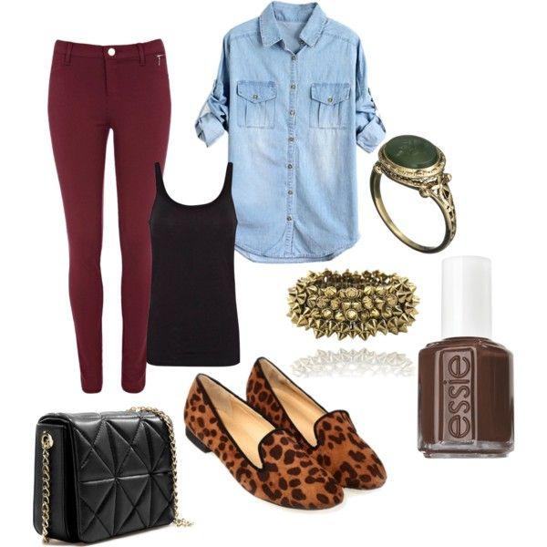 Burgundy leggings...Mmmmm