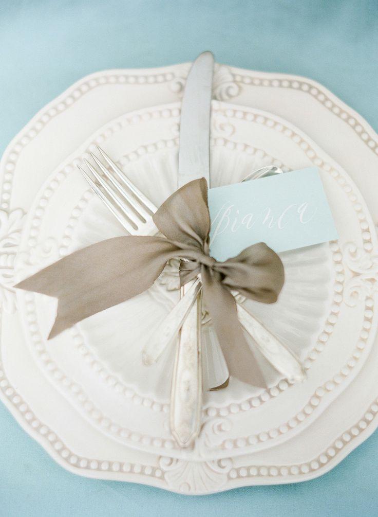 #silverware, #plates Photography: KT Merry - ktmerry.com Read More: http://www.stylemepretty.com/2014/06/05/destination-wedding-inspiration-on-the-amalfi-coast/