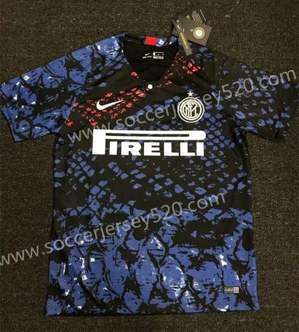 2019 20 Inter Milan Blue&Black Thailand Soccer Training