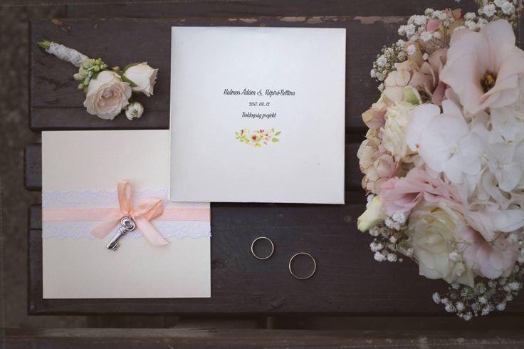 Vintage kulcsos esküvői meghívó - vintage key wedding invitation
