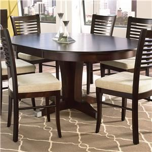 Shop For The Canadel Custom Dining Customizable Round Table W Pedestal At Sheelys Furniture Appliance