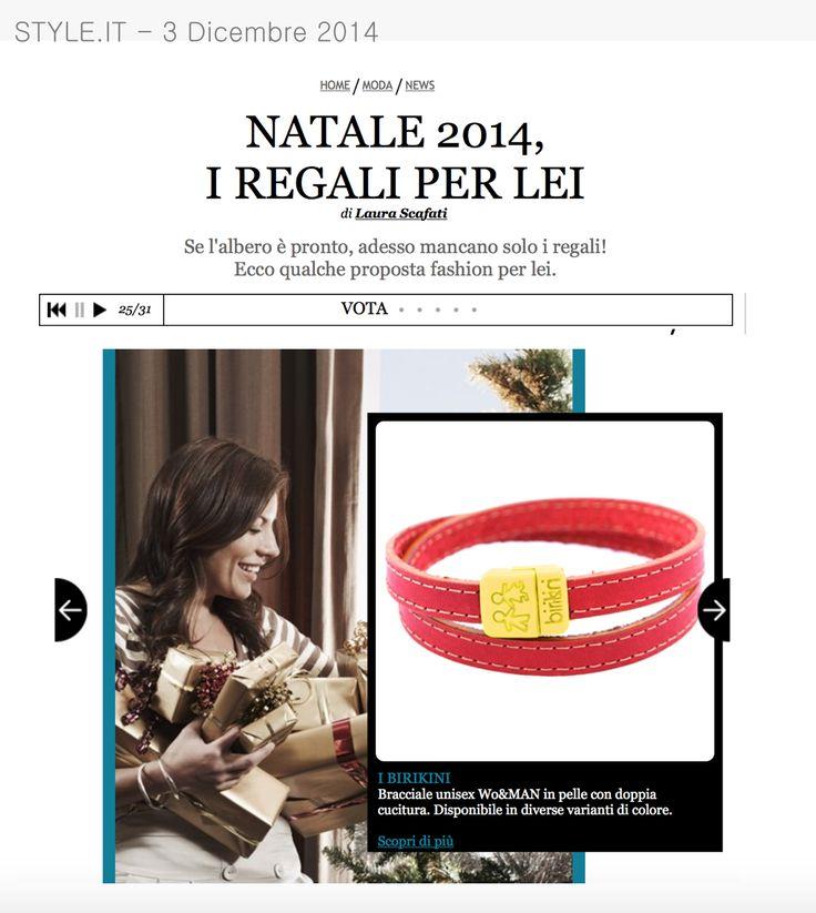 Style.it del 3 Dicembre 2014 parlando di regali di Natale propone i bracciali #woman www.ibirikini.com - info@ibirikini.com