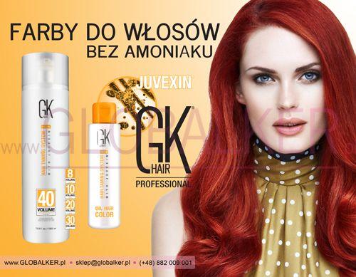 Farby do włosów bez amoniaku GK hair Koloryzacja Olejkowa Global Keratin Juvexin Warszawa Sklep #no.1 #globalker http://globalker.pl/farby/31-GK-HAIR-FARBA-OLEJKOWA-BEZ-AMONIAKU-OIL-COLOR-100ml-GLOBAL-KERATIN.html