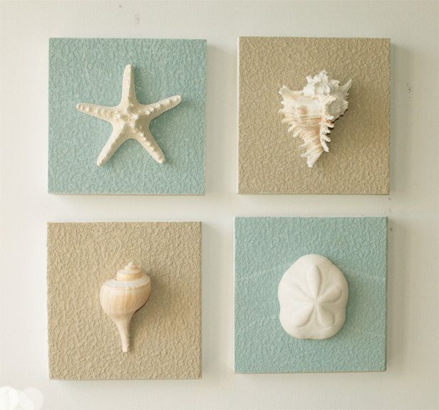 Beach decor on driftwood panel for coastal wall by for Driftwood decor and design