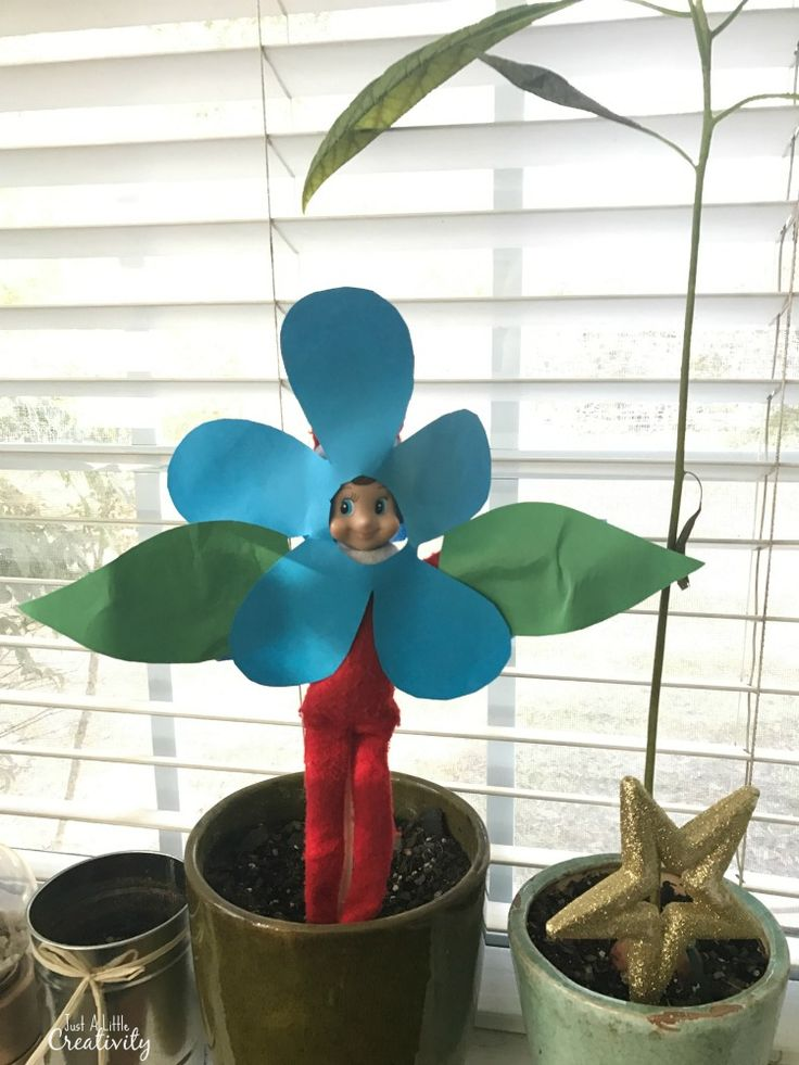 elf with a flower idea