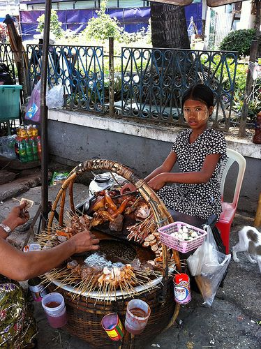 Street Food in Yangon   - Explore the World with Travel Nerd Nici, one Country at a Time. http://TravelNerdNici.com