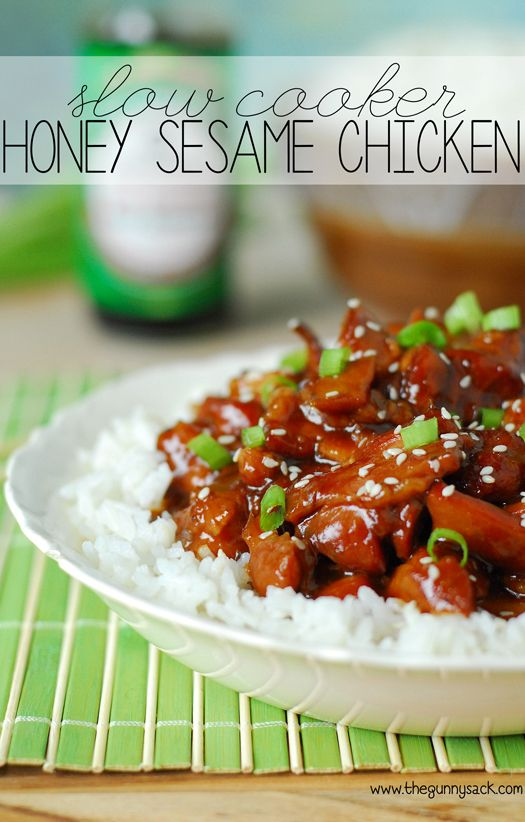 Slow Cooker Honey Sesame Chicken Recipe http://sussle.org/c/Chinese_cuisine/1406537183.1493