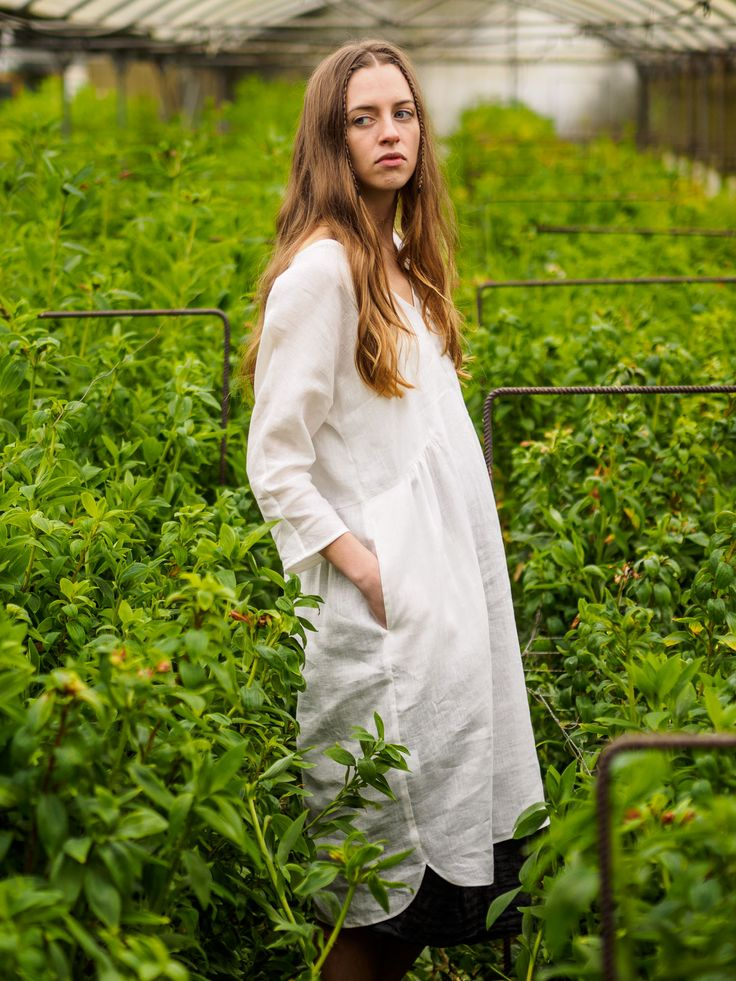 Issue #2 - D-due LAB: Yellow Mountain | White linen dress. #dduelab #linen #dress #white