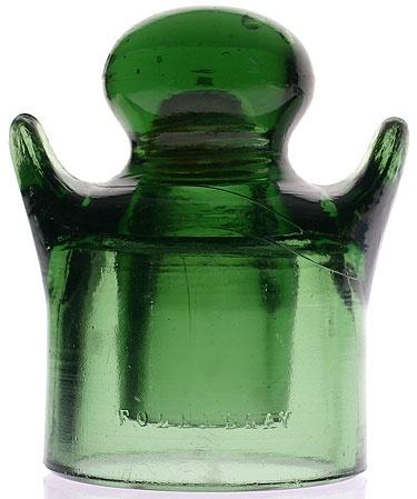 Glass Insulator: CD 640 - Folembray No. 211 'Gingerbread Boy'
