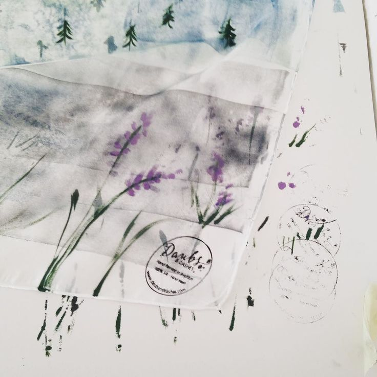 My favourite from Daubs & Dashes...just beautiful #silkscarf #summerscarf #organicsilk #printmaking #ink  #daubsanddashes #handmade #brightonandhove #handmadegifts