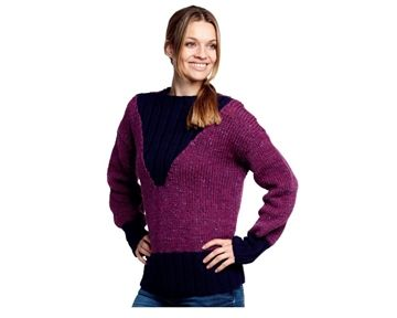 sweater v udskæring rib semilla grosso bc strikkeopskrift download strikkepinden.com