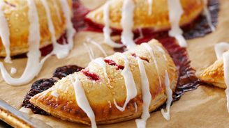 Frosted Raspberry Hand Pies | Bake With Anna Olson
