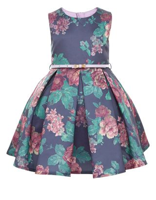 Tapestry Rose Print Dress