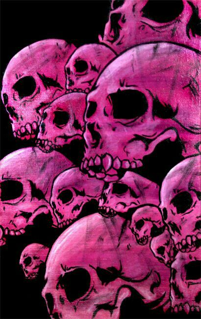 Pink Skulls. @ashleymariemc this would be a cool phone background.