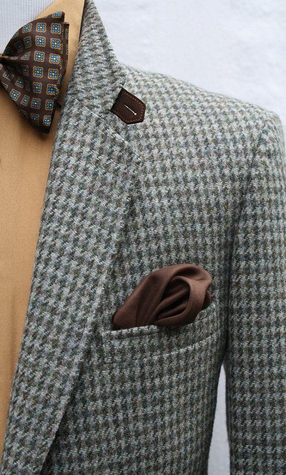 Mens Vintage Pure Wool Houndstooth Sport Coat by ViVifyVintage #suitup