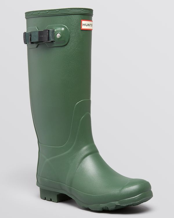 "Hunter Huntress Extended Calf Rain Boots last ditch effort if it turns out I have fat calves! Didn't say anywhere how wide these babies are or shaft height. Proper shaft height needs to not less than 16"" IMO? Check sock height! Size 7 or 8 US."
