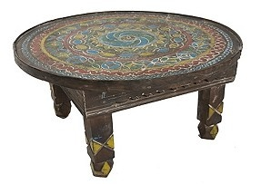 Vintage Hand-Painted Berber Side Table..I love this table!