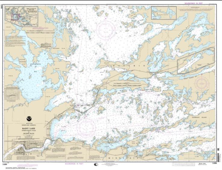 Rainy Lake-International Falls to Dryweed Island (14998-15) by NOAA