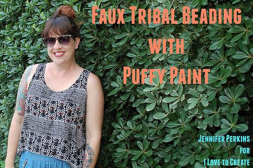 iLoveToCreate Blog: Faux Beading with Puffy Paint