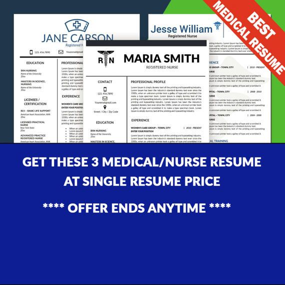 Nurse Resume Template, Medical Resume Template, Nursing CV, Resume Nurse, Nursing rn, RN Resume, Doctor Resume, Nurse CV, Cover Letter