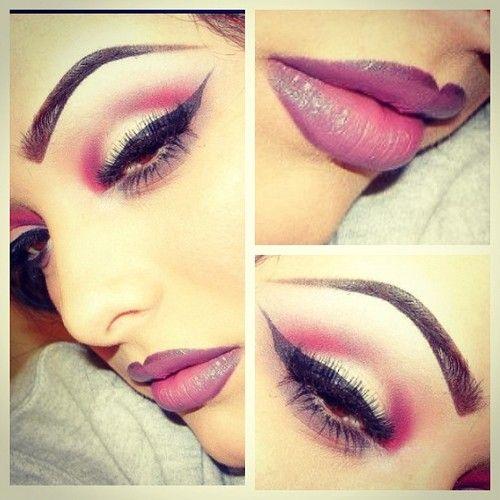 pretty ombre makeup