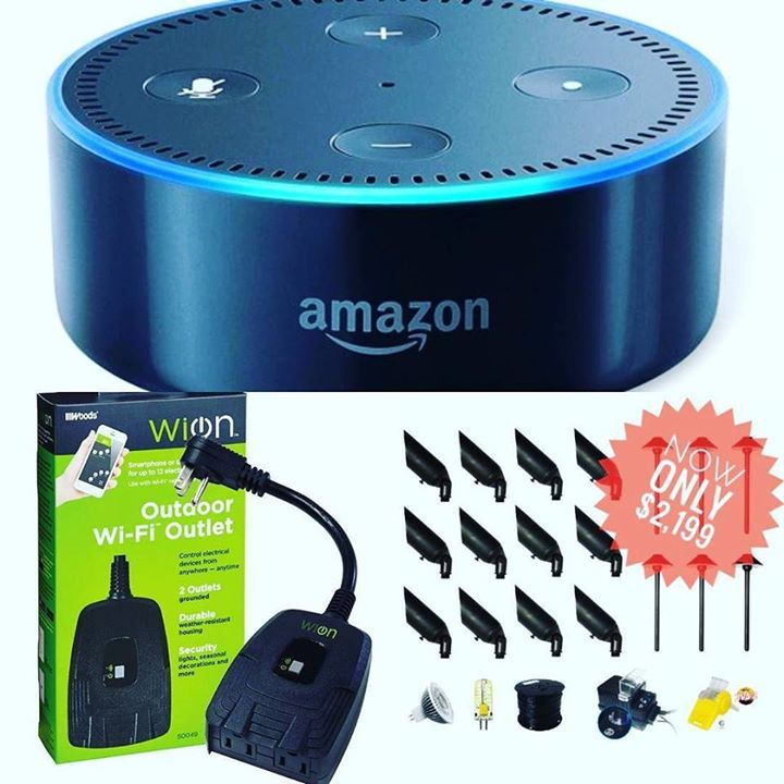 Now You Can Run Your Outdoor Lighting from anywhere in the world with just your voice... @lightingdoctor #amazon #alexa @wionproducts   #landscapelighting #voice #wifi #homeandgarden #diy #luxury #technology #home #garden #landscaping #handyman #electrician #smarthome #hgtv Learn more at http://ift.tt/2lqiJ8m Learn more at http://ift.tt/2lqiJ8m