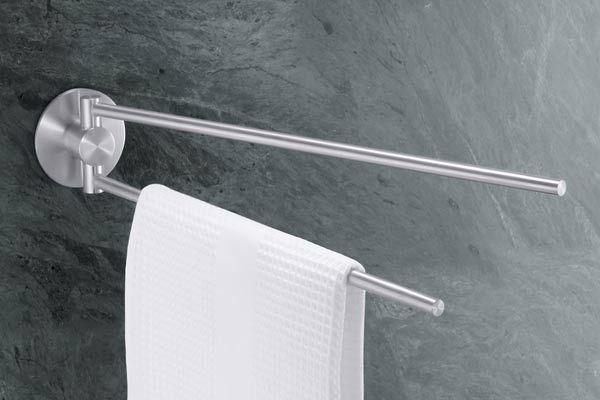 Wieszak na ręczniki dwuramienny Marino - małe zdjęcie