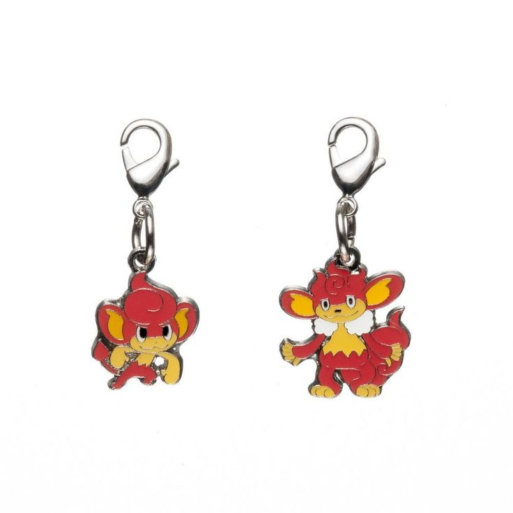 Pokemon Center Metal Charm Pansear Simisear 2 types.With tracking number #PokemonCenter