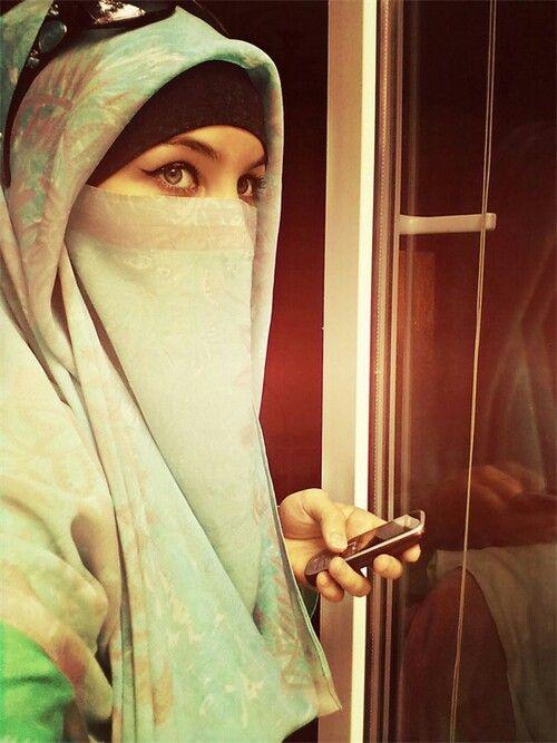 Nice colour niqab