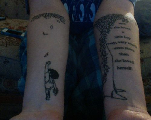 The Giving Tree Quotes Tattoo