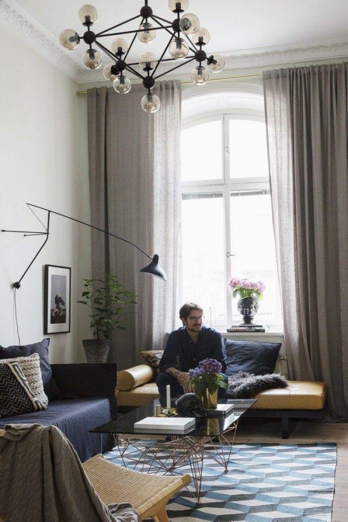 Edin Memic Kjellvertz living room in Residence Magazine |  Dusty Deco vintage #vintage #interior #retrohome