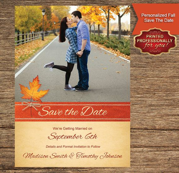 Fall Save the Date Printed Professionally For by CFirstImpressions